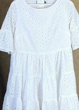 Платье белое прошва пышное 36р