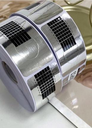 Узкие формы для наращивания ногтей гелем 100 шт