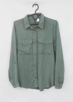 Рубашка с вышивкой на спинке с длинным рукавом вискоза