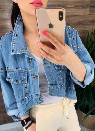 Джинсовая куртка женская джинсовка