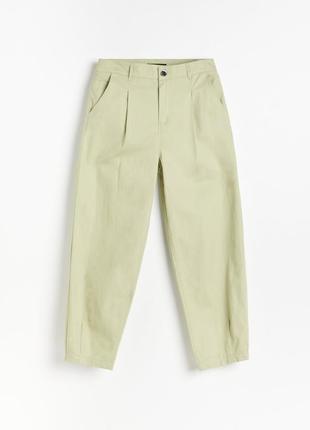 Хлопчатобумажные брюки balloon цвет хаки