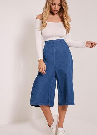 Стильные джинсовые брюки кюлоты  французского бренда ciminy