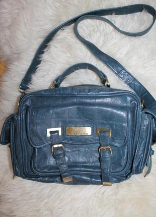 River island стильная кроссбоди - сумочка чемоданчик