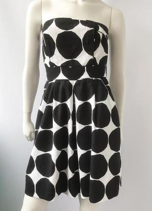 Короткое платье-сарафан, лен в составе, бренда marimekko