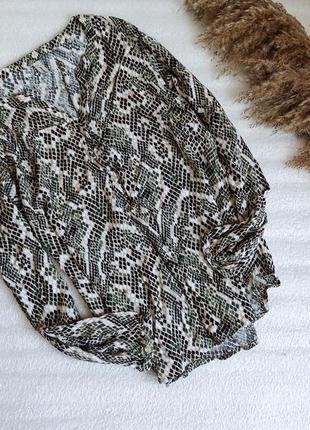 ✨неймовірна , приємна ,натуральна блуза , animal print  ✨