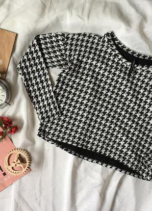 Кроп кофта свитшот свитер реглан чёрный белый bershka stradivarius  zara