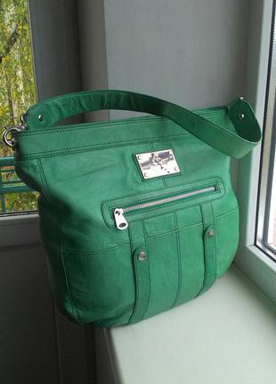 Кожаная сумка tommy & kate limited edition