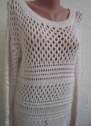 Ажурный свитер, кофта. 1+1= 50% скидки на 3ю вещь.
