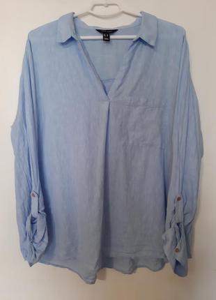 Льняная рубашка,блузка,топ