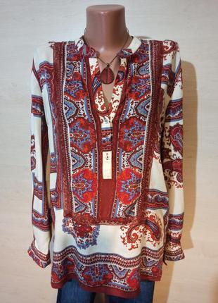 Рубашка оверсайз с длинным рукавом