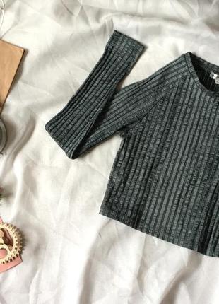 Футболка кофта свитшот реглан свитер рубчик с длинным рукавом s bershka zara stradivarius