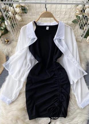 Комплект платье и рубашка