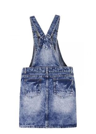 Новый женский стильный джинсовый комбинезон с юбкой летний