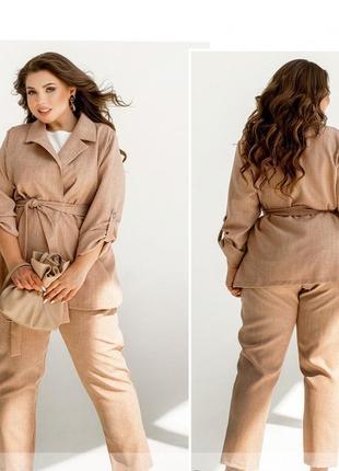 Летний костюм-тройка брюки, пиджак, футболка размеры 50-52/54-56/58-60/62-64 (994)