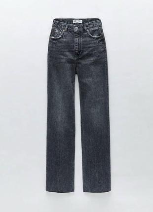 Графитовые джинсы палаццо зара, zara, в размере 38, новые