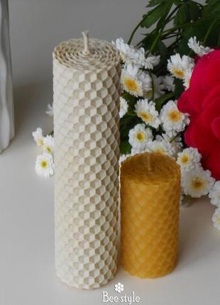 Набор 2 свечи из 100% натуральной пчелиной вощины🐝❣