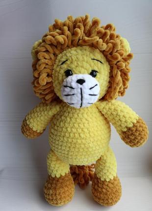 Лев амигуруми вязаный львенок ручной работы