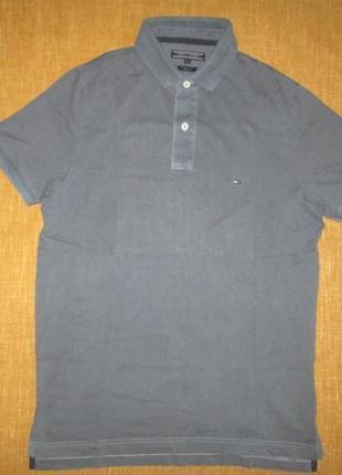 Поло футболка tommy hilfiger оригинал р. m slim fit