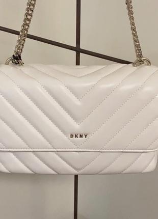 Кожаная сумка dkny оригинал в стиле chanel