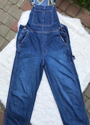 Джинсовый комбинезон, мом, джинс gap