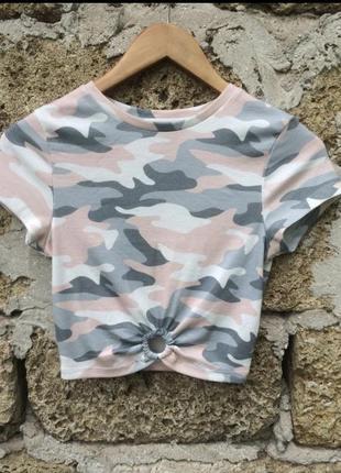 Камуфляжная футболка primark