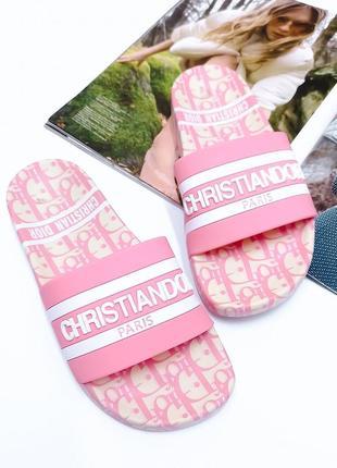 Резиновые шлепки под бренд, розовый