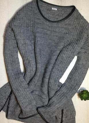 Серый удлиненный свитер, pimkie, размер л,может быть и как оверсайз
