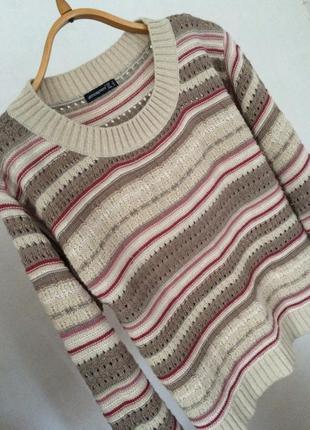 Крутой актуальный свитер atmosphere с узорами мягкий оверсайз