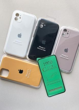 За 4 шт стекло в подарок чехол iphone 11 айфон 11