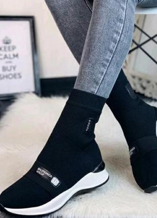 Продам кроссовки носки высокие длинные женские новые красовки кросовки стрейчевые тканевые