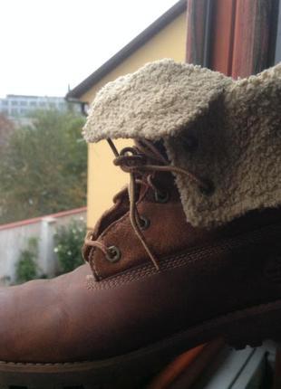 Зимние ботинки timberland на шнуровке оригинал