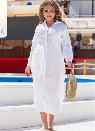 Ультрамодное платье из натуральной ткани