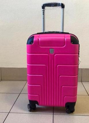 Чемодан на колесах s (55x21x38) розовый