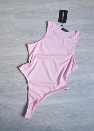 Розовый утягивающий боди