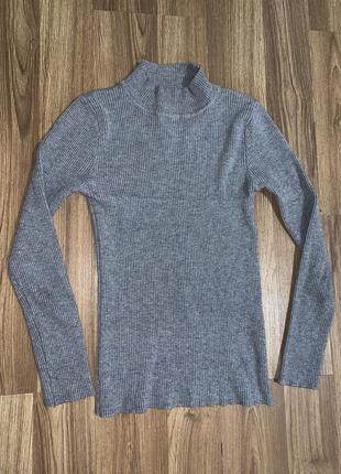 Гольф свитер кофта под горло рубчик
