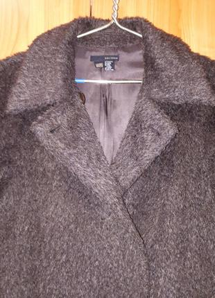 Тёплое пальто (мохер, альпака, шерсть) zara