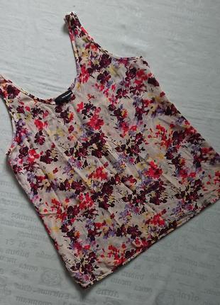 Красивая шелковая блуза the kooples/летняя майка с цветочным принтом