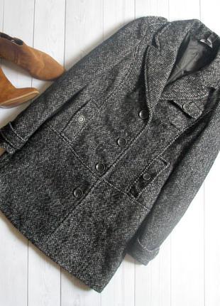 Теплое шерстянное пальто