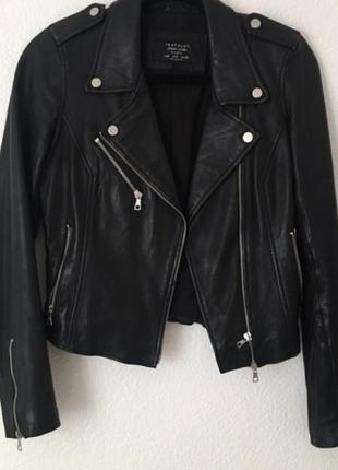 Кожаная куртка косуха натуральная кожа zara