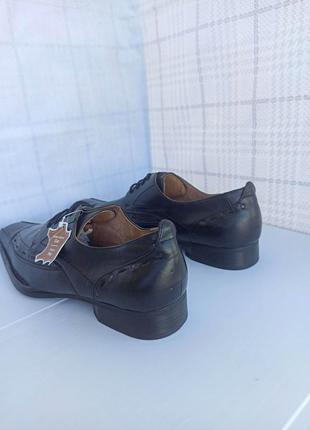 Полностью натуральные, кожаные оксфорды, туфли, мокасины2 фото