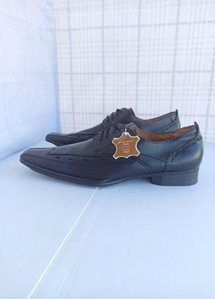 Полностью натуральные, кожаные оксфорды, туфли, мокасины4 фото
