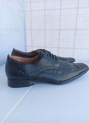 Полностью натуральные, кожаные оксфорды, туфли, мокасины5 фото