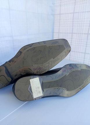 Полностью натуральные, кожаные оксфорды, туфли, мокасины7 фото