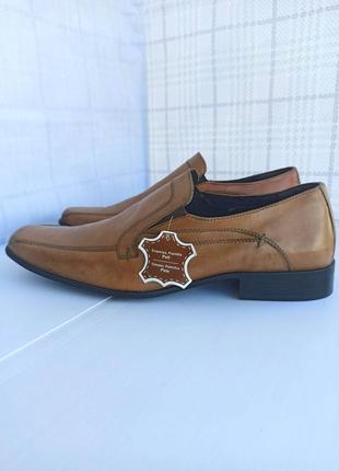 Натуральные кожаные туфли, мокасины из кожи