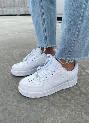 Кроссовки белые кожаные, кросівки білі шкіряні  air force 1 low white 😍