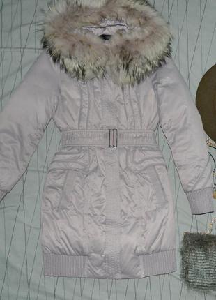 Очень теплое зимнее пальто наполнитель пух , перо