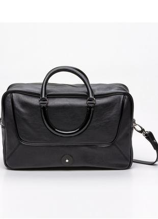 Новая сумка lamarthe paris чёрная 100% кожа оригинал вместительная большая