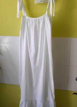 Белое миди платье asos