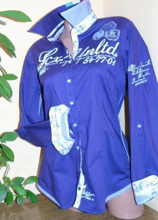 Италия . шикарная брендовая рубашка - l - xl