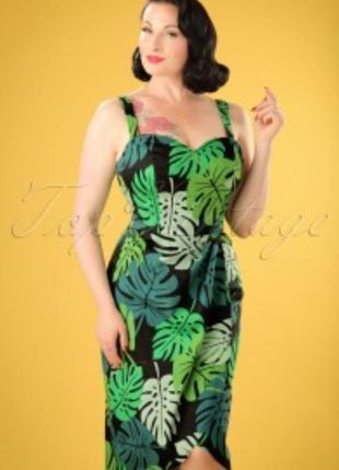 Платье сарафан в принт зелёные листья как zara next h&m f&f